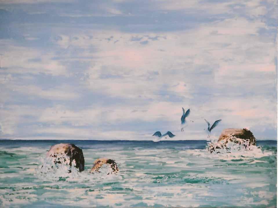 Rita shellard art inspiration oil paintings signed for Fishing in bermuda